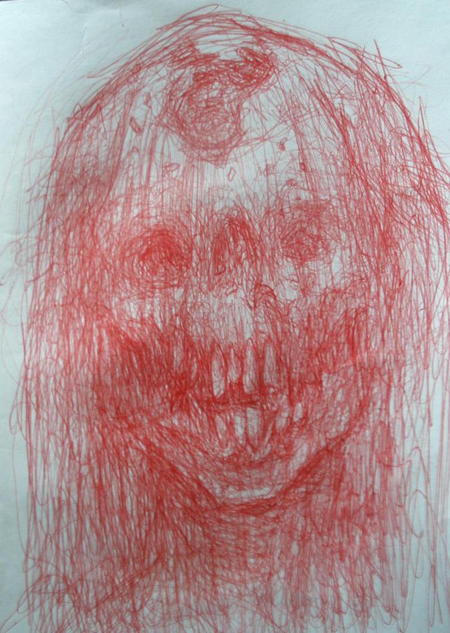 Ralph Nixon Jr Artist Drawing - Death In A Veil by Ralph Nixon Jr
