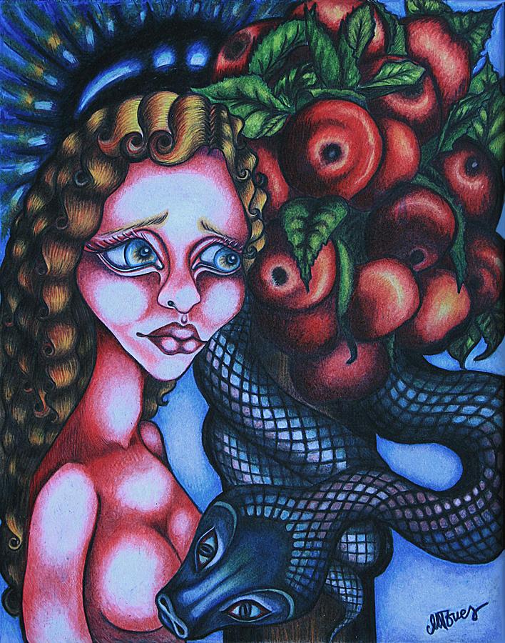 Religious Drawing - Death by Maryska Torresowa