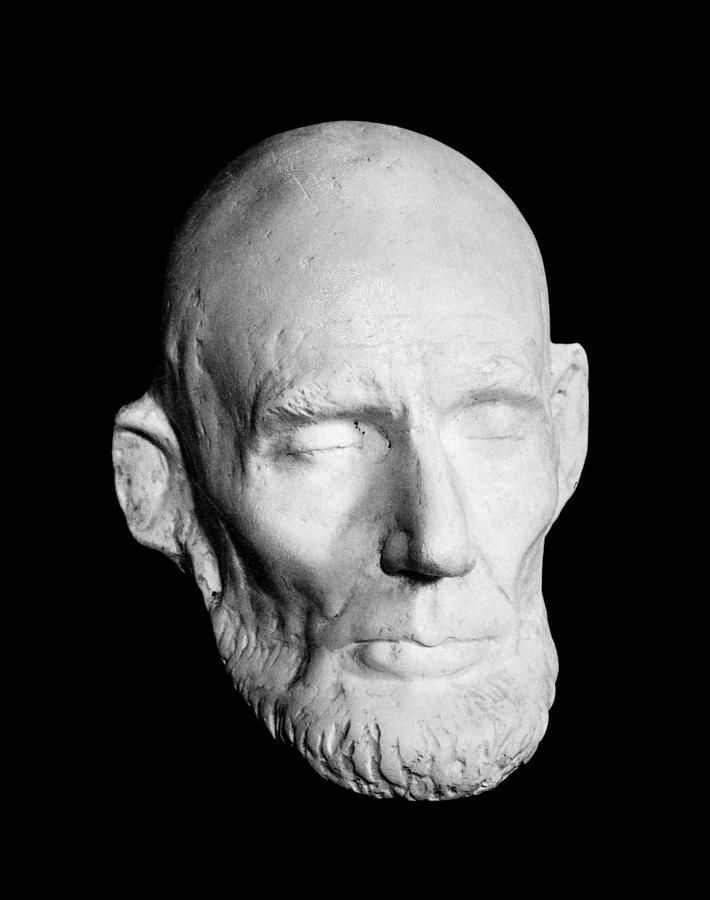Canvas Lincoln Tech >> Death Mask Of Abraham Lincoln Photograph by Everett