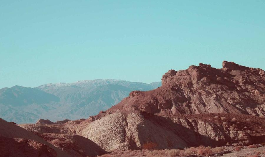 Nature Photograph - Death Valley Mountains by Naxart Studio