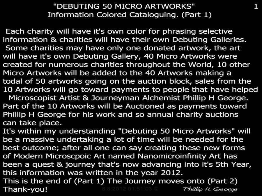 Art Donations Digital Art - Debuting 50 Micro Artworks Part 1  by Phillip H George