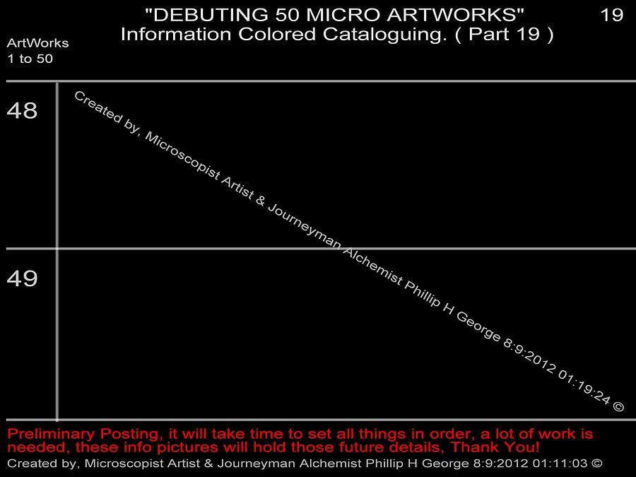 Debuting 50 Micro Artworks Part 19  Digital Art by Phillip H George