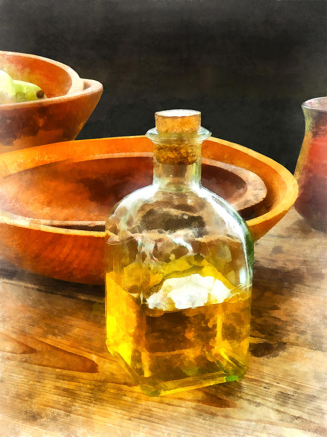 Cook Photograph - Decanter Of Oil by Susan Savad