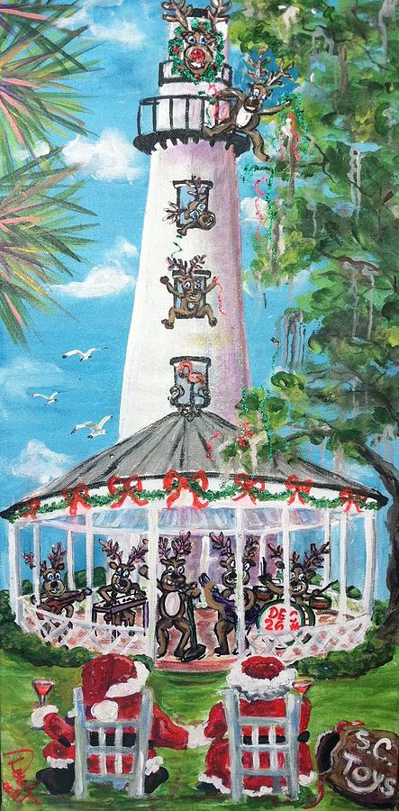 Lighthouse Painting - December 26th  by Doralynn Lowe