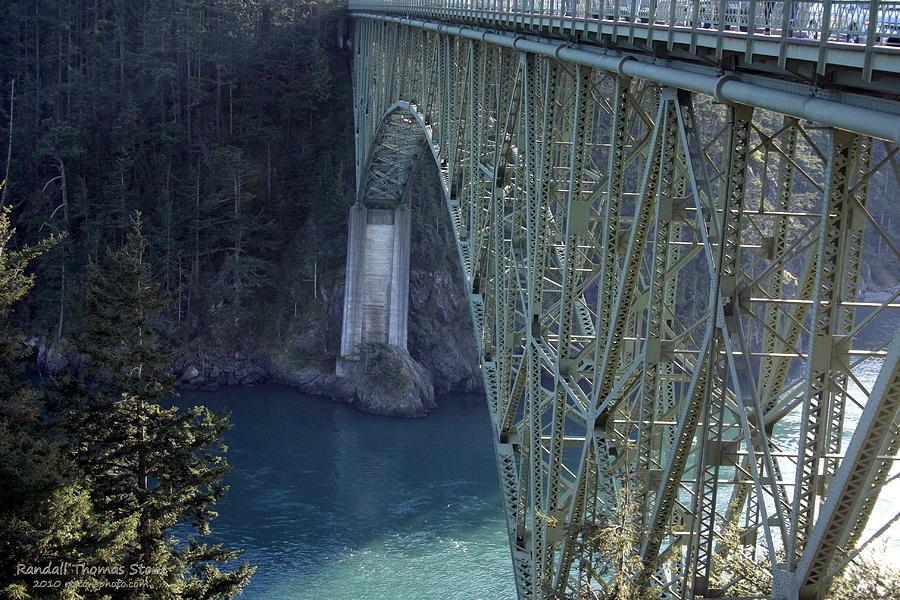 Bridge Photograph - Deception Pass Bridge South Span by Randall Thomas Stone