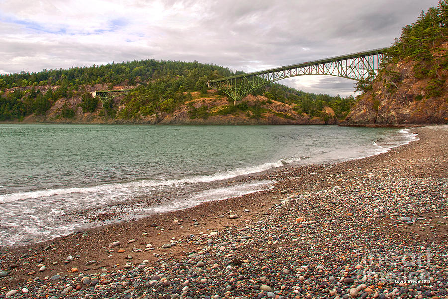 Bridge Photograph - Deception Pass Washington by Artist and Photographer Laura Wrede