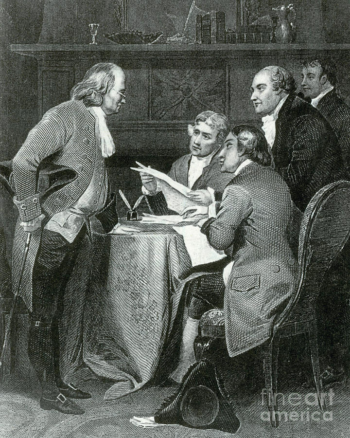 Declaration Of Independence Photograph - Declaration Committee by Photo Researchers