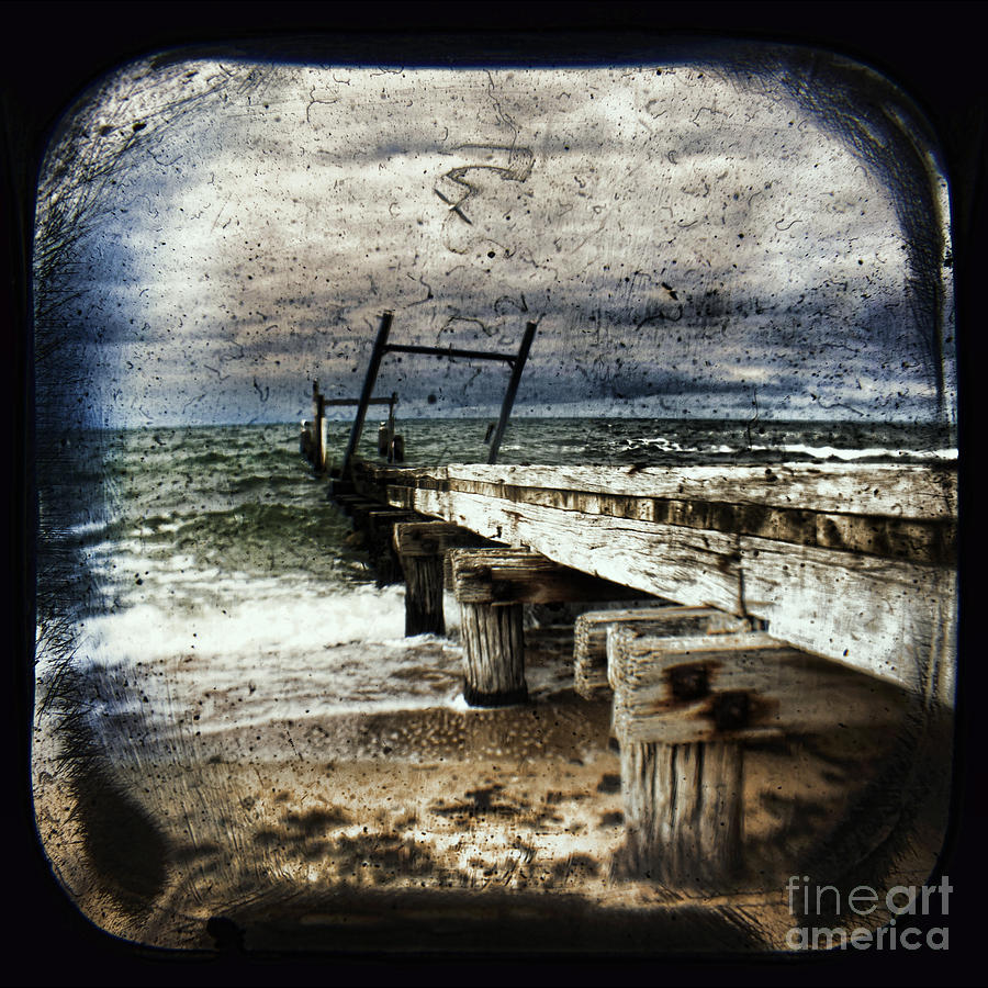 The Old Elwood Pier Photograph - Deconstruction  by Andrew Paranavitana