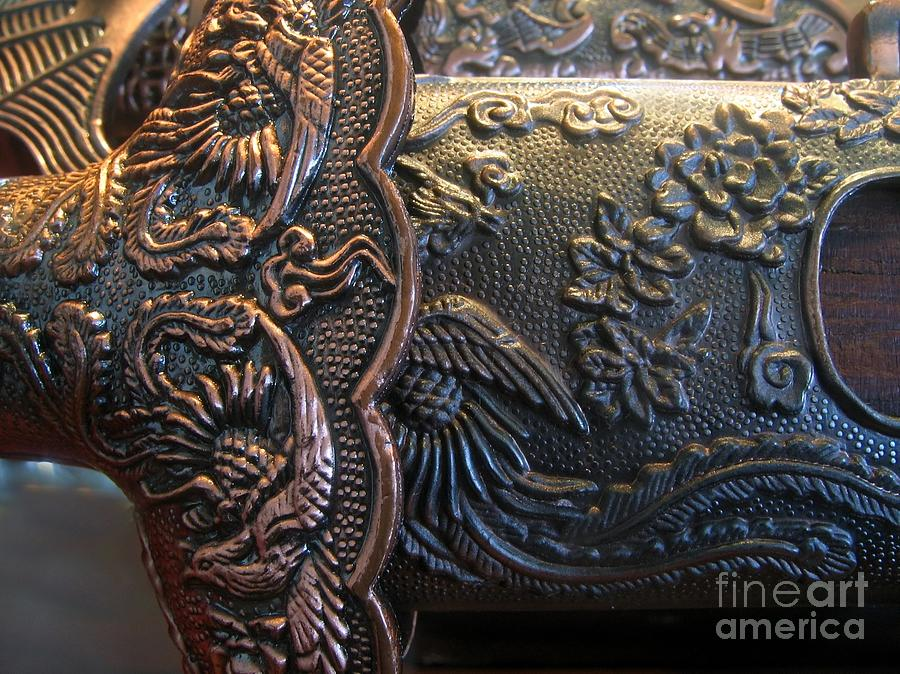 Copper Photograph - Decorated Parts  Of A Sword by Yali Shi