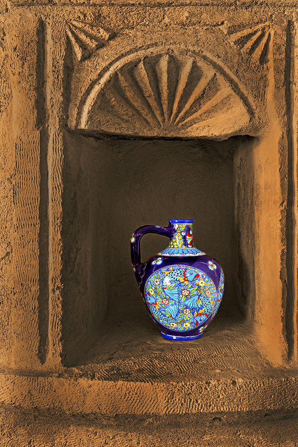 Wine Photograph - Decorative Carafe In An Alcove by Kantilal Patel