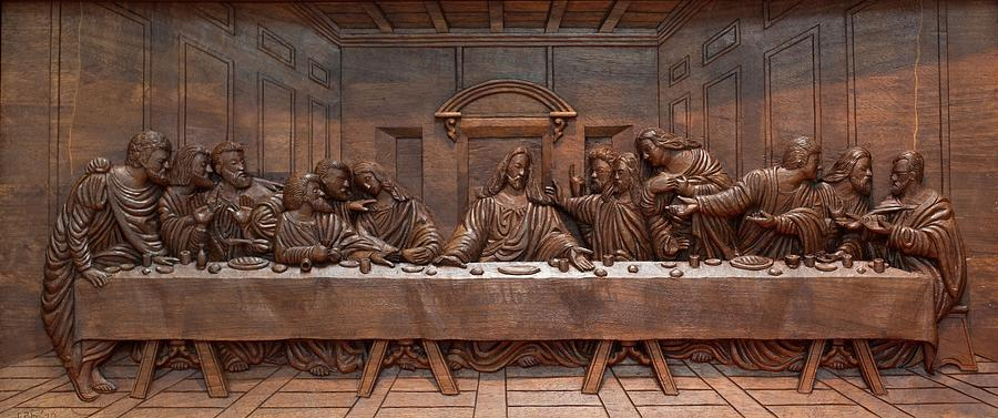 Contemporary Art Sculpture - Decorative Panel - Last Supper by Goran