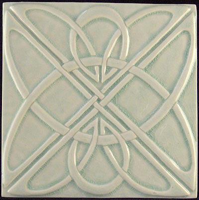 decorative relief carved art deco celtic knot tile relief