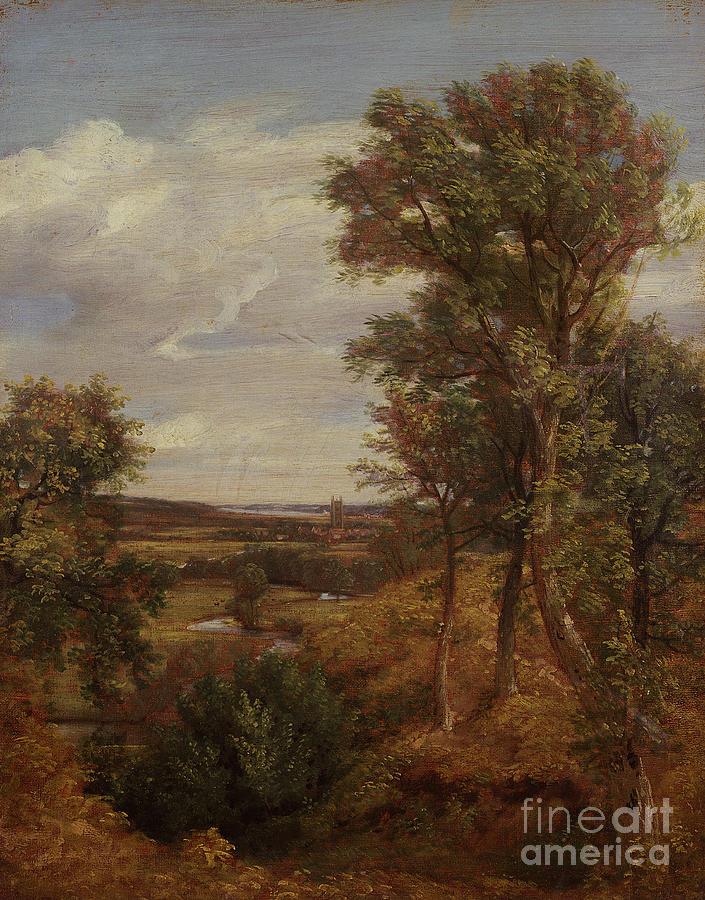 Dedham Vale Painting - Dedham Vale by John Constable