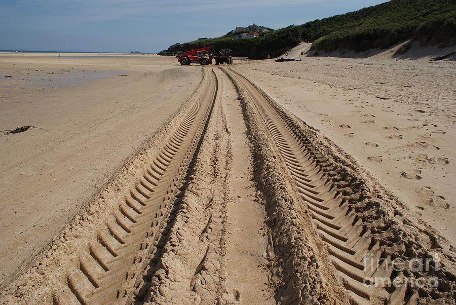 Sand Photograph - Deep Tracks - Soft Sand by Keith Sutton