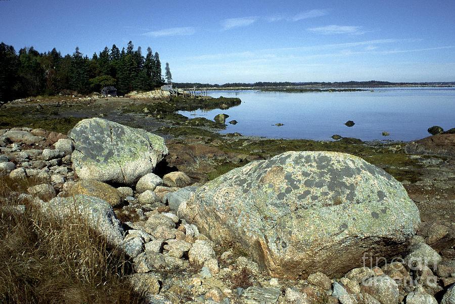 Deer Isle Photograph - Deer Isle Granite Shoreline by Thomas R Fletcher