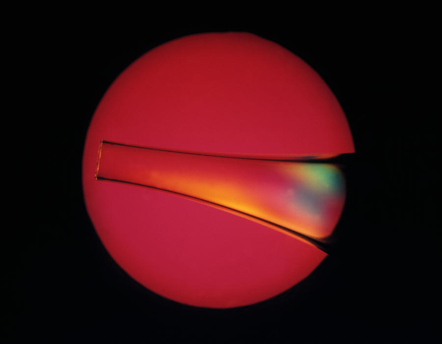 Material Photograph - Defects In Plastic, Light Micrograph by Mark Sykes