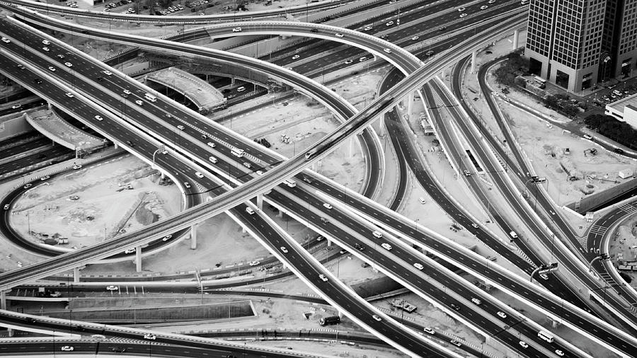 Horizontal Photograph - Defence Roundabout In Dubai by Momentaryawe.com