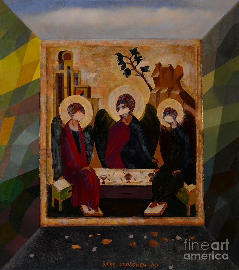 Icon Painting - Defileds by Jukka Nopsanen