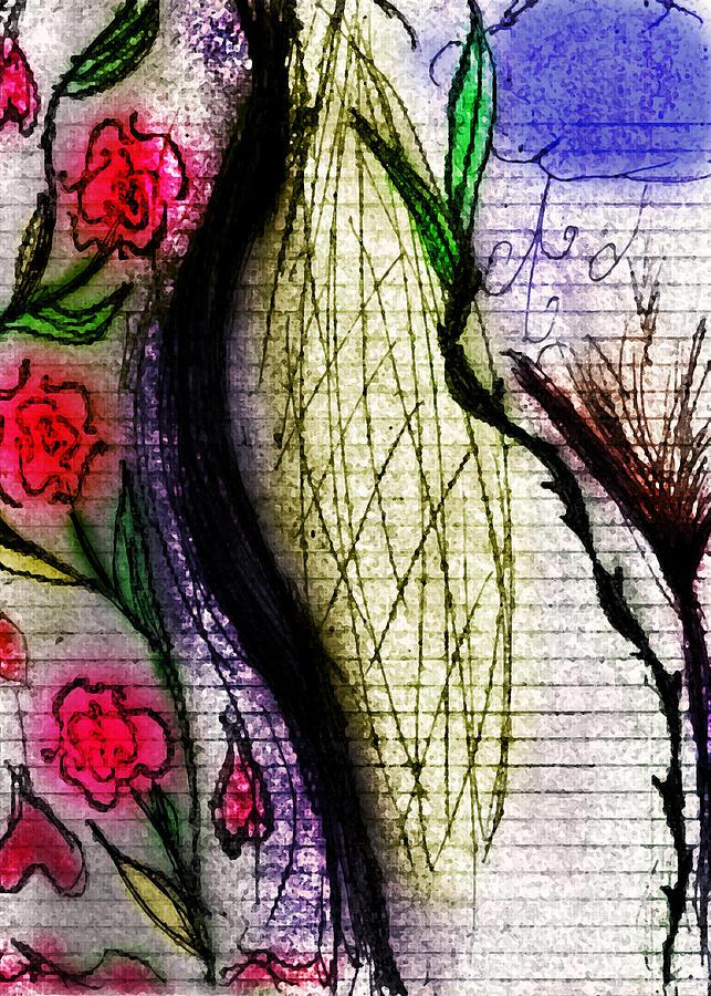Thigh Drawing - Deflower by Stephanie Margalski