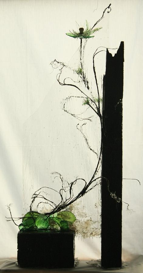 Flower Sculpture - Defrost by Mariann Taubensee