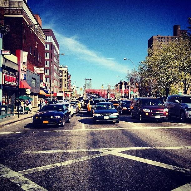 New York City Photograph - Delancey Street - Lower East Side - New York City by Vivienne Gucwa