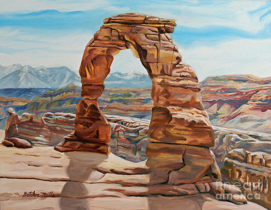 Landscape Painting - Delicate Arch by Gretchen Matta