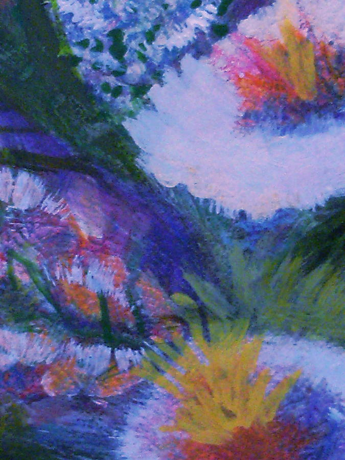 Les Fleurs Painting - Delightful And Bright  by Anne-Elizabeth Whiteway