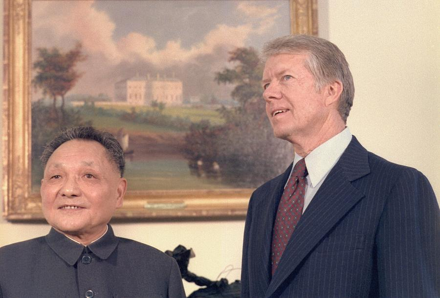 History Photograph - Deng Xiaoping And Jimmy Carter by Everett