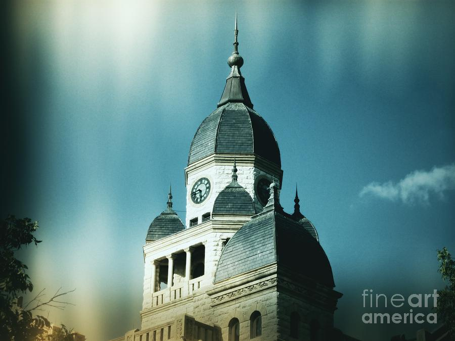 Denton Photograph - Denton County Courthouse by Angela Wright
