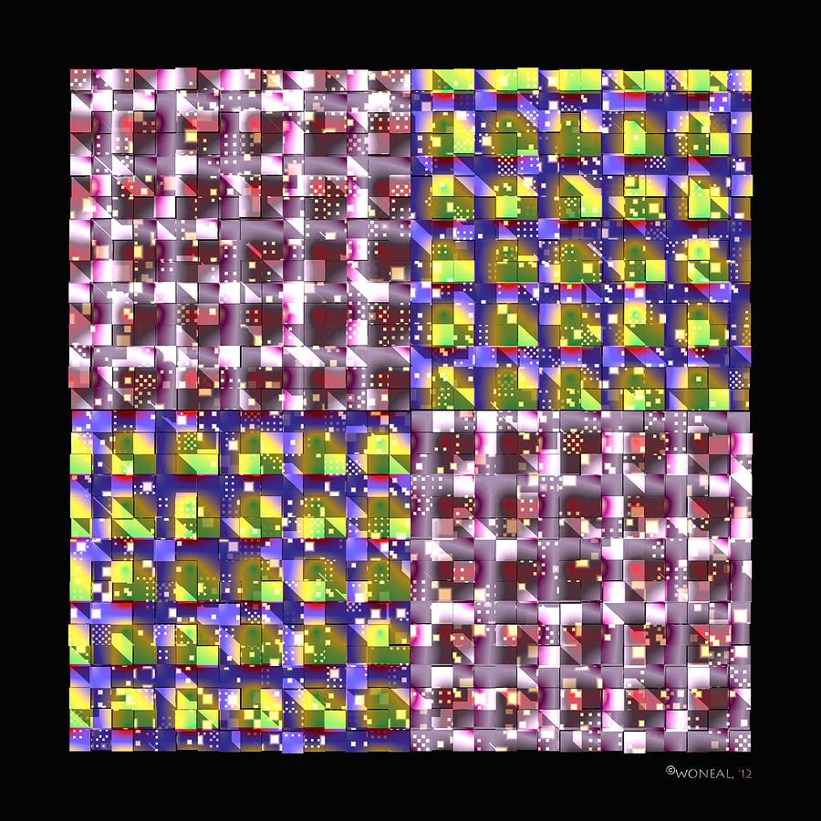 Tiles Digital Art - Denzone Tile 3 by Walter Neal