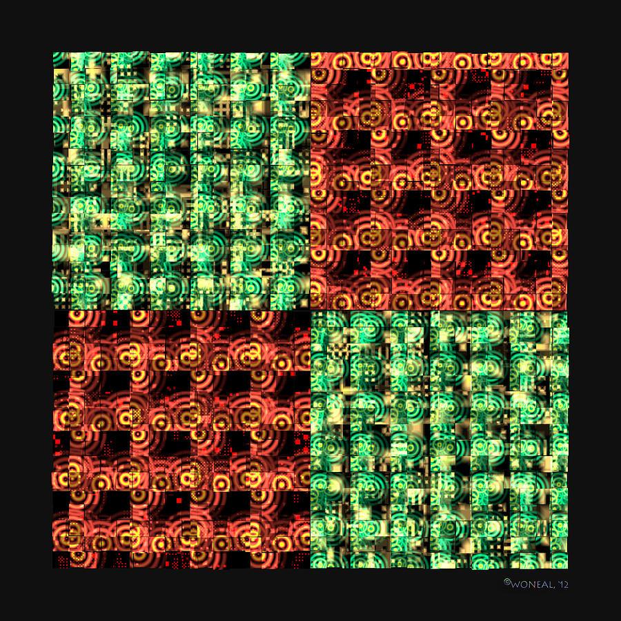 Tiles Digital Art - Denzone Tile 4 by Walter Neal