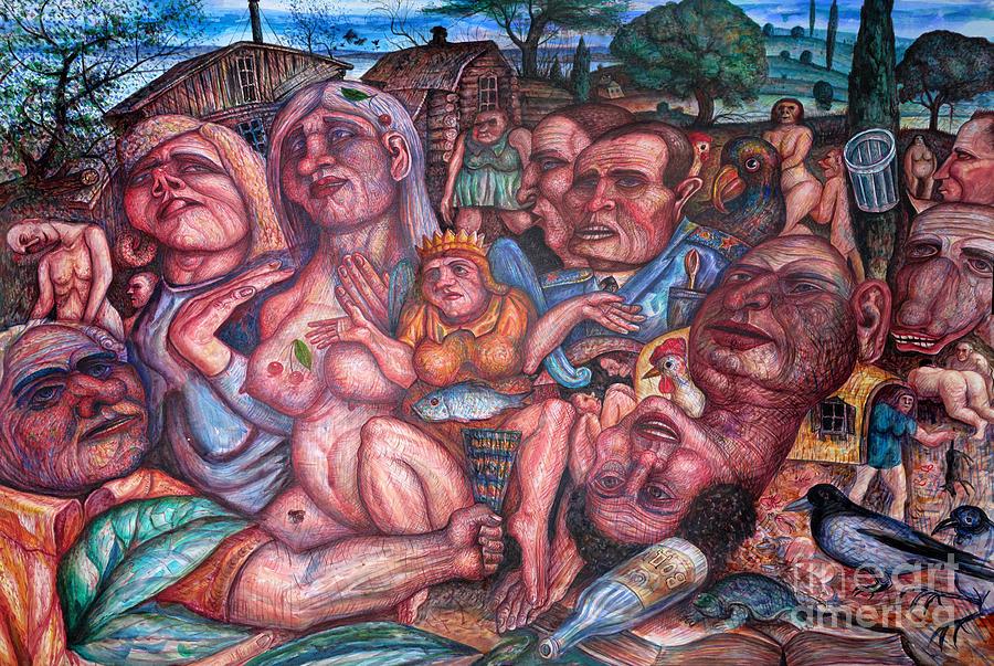 Depressive Art Painting by Vladimir Feoktistov