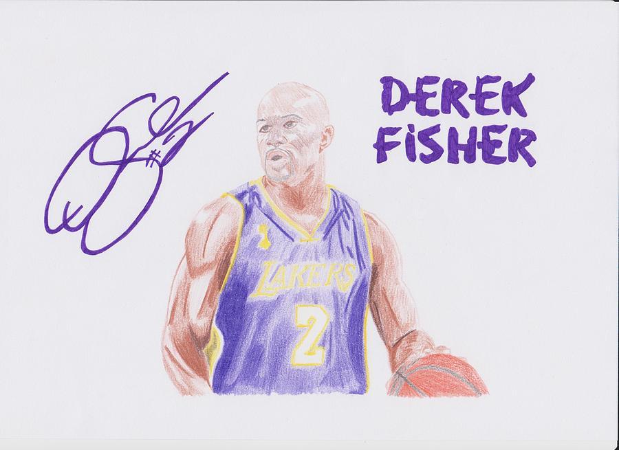 Dered Drawing - Derek Fisher by Toni Jaso