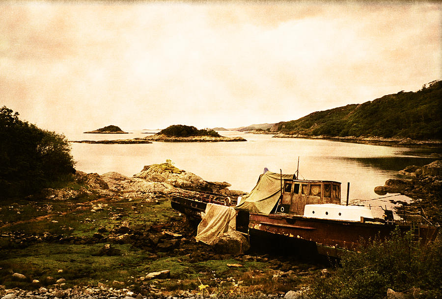 Isle Of Barra Photograph - Derelict Boat In Outer Hebrides by Jasna Buncic
