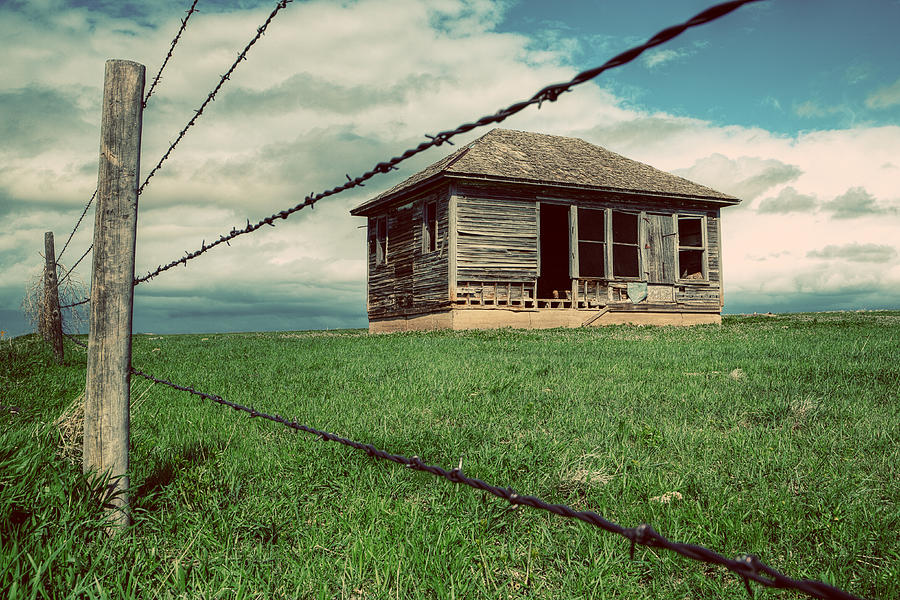 Abandoned House Photograph - Derelict House On The Plains by Thomas Zimmerman
