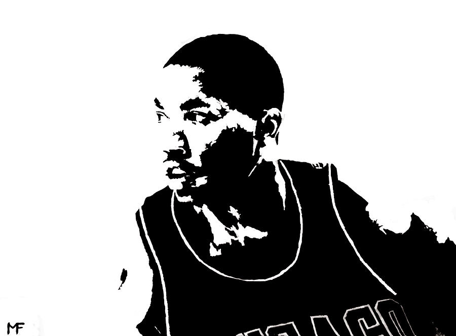 Derrick Rose Painting - Derrick by Matthew Formeller