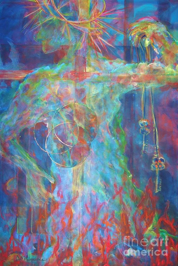Christian Cross Painting - Descended by Deb Magelssen