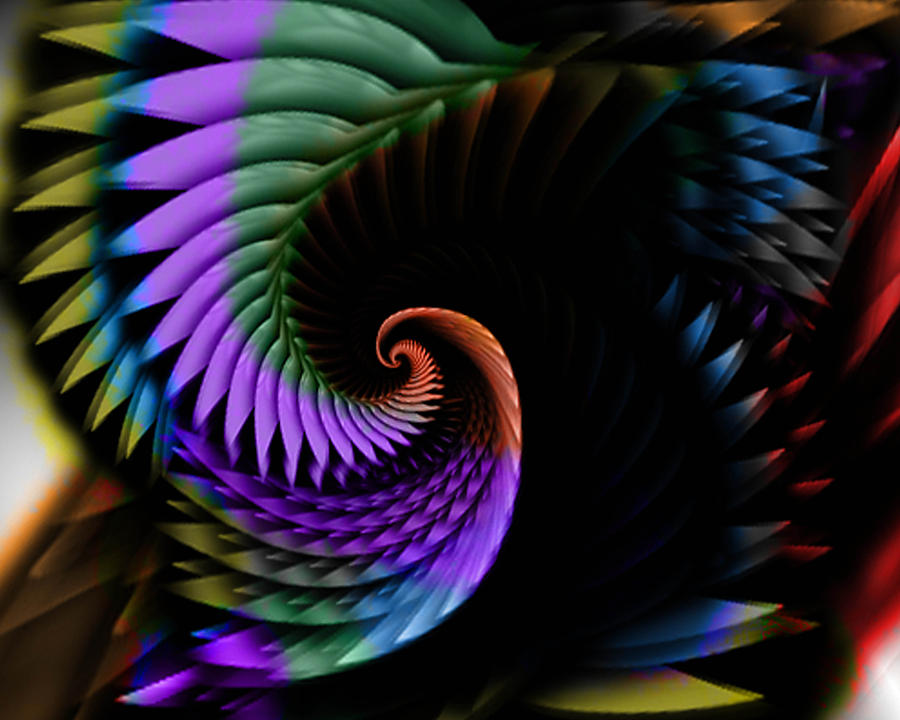 Abstract Digital Art - Descending Flight by Anthony Caruso