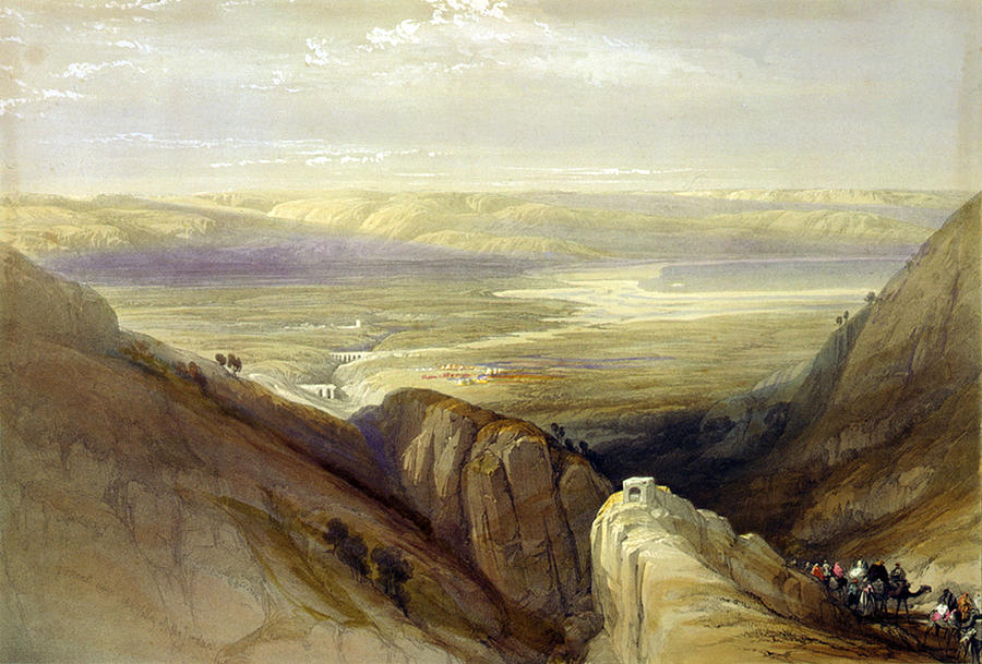 1840s Photograph - Descent Upon The Valley Of Jordan by Everett