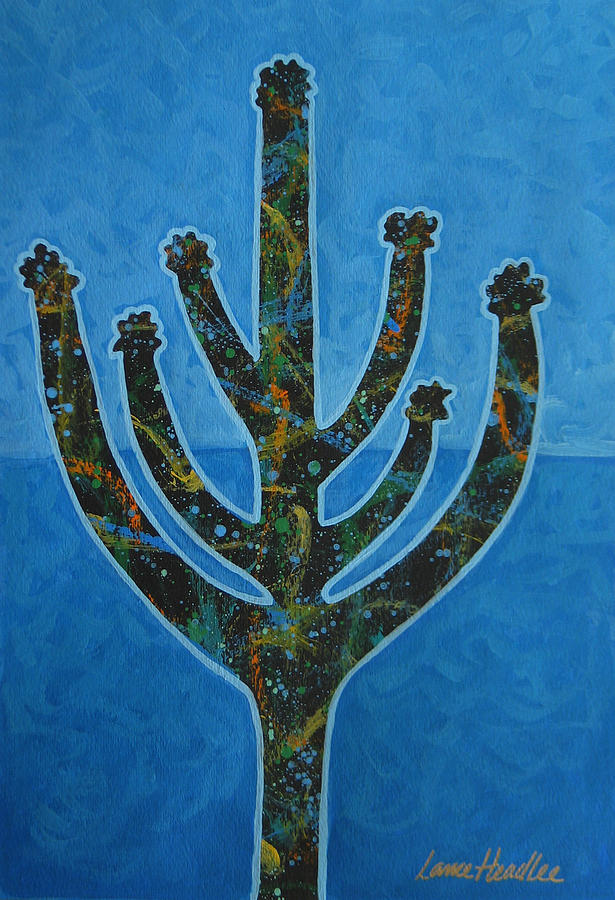 Cactus Painting - Desert Blue by Lance Headlee