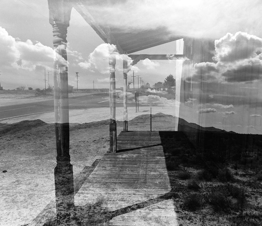 Black Photograph - Desert Church Double Exposure by Ashlee Meyer