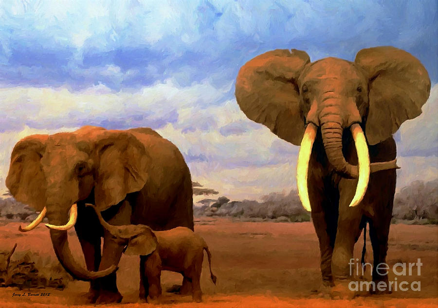 Desert Elephants by Jerry L Barrett