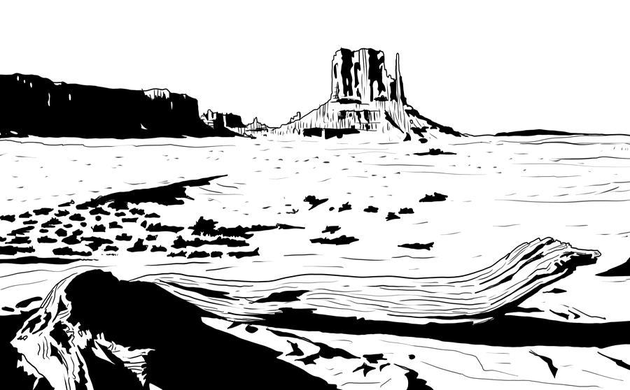 Desert Drawing - Desert by Giuseppe Cristiano