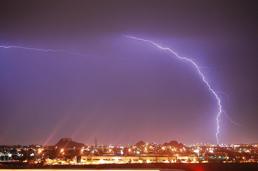 Lightning Photograph - Desert Lightning by Jennifer Nixon