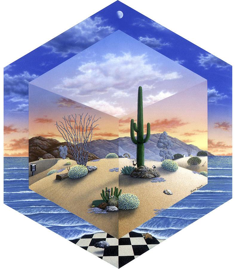 Desert Painting - Desert On My Mind 2 by Snake Jagger