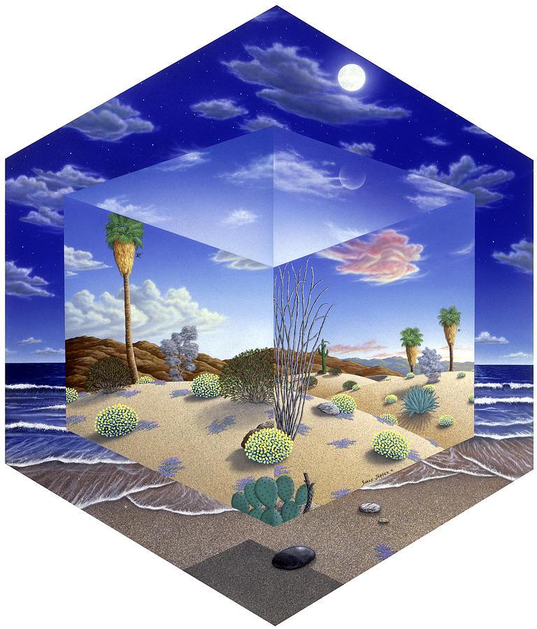 Desert Painting - Desert On My Mind by Snake Jagger