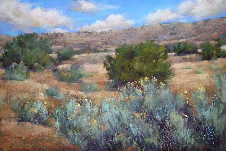 Desert Reverie Pastel By Karen Margulis
