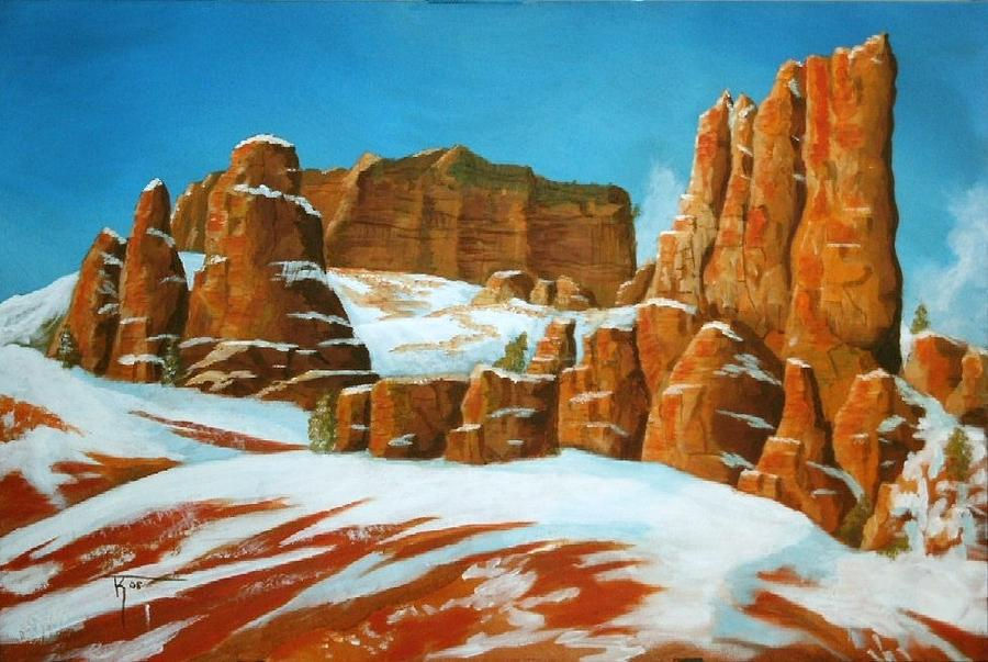 Desert Painting - Desert Snow by Travis Kelley