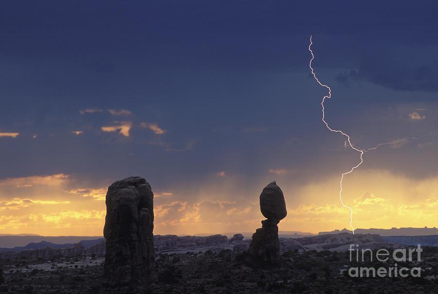 Lightning Photograph - Desert Storm - Fs000484 by Daniel Dempster