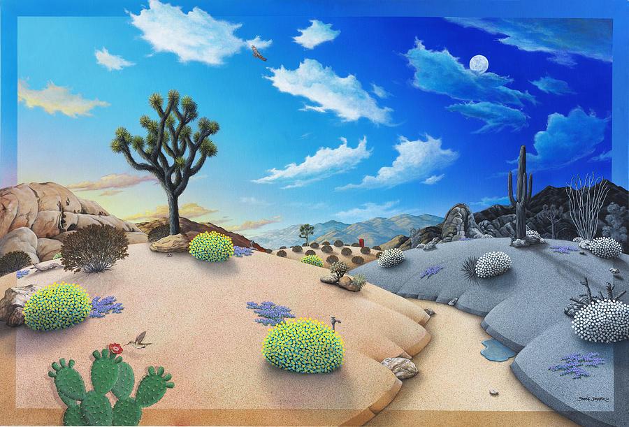 Desert Painting - Desert Timeline by Snake Jagger